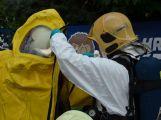Obrazem: Taktické cvičení složek IZS na příbramském zimním stadionu (31)