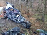 Právě teď: Po nárazu do stromu zůstala řidička uvězněna ve vozidle, v místě přistává záchranářský vrtulník (3)