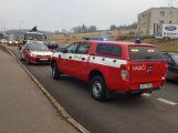 Hasiči vyjeli k hořícímu nákladnímu autu ()