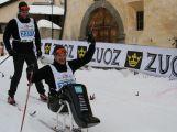 Jan Tománek jako jediný handicapovaný závodník na sledgi třicetikilometrové La Pachifica dosáhl cíl (16)