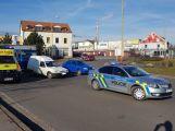 Na kruhovém objezdu došlo k dopravní nehodě se zraněním (1)