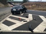 Přednost příčinou ranní nehody dvou vozidel (5)