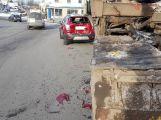 AKTUÁLNĚ: Nehoda komplikuje průjezd na kruhovém objezdu! (1)