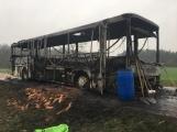 Aktuálně: Plameny zachvátily autobus (1)