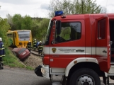 Aktuálně: Na železničním přejezdu vjelo vozidlo pod projíždějící vlak, v místě přistává vrtulník (4)
