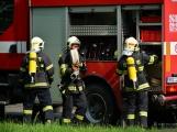 V Dobříši se připravovaly jednotky IZS na únik čpavku ve strojovně zimního stadionu (26)