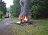 Hasiči zasahovali u požáru osobního vozidla ()