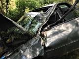 Právě teď: Osobní vůz vyletěl ze silnice, v místě zasahují záchranné složky IZS (5)