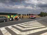 Hromadná kolize tří vozidel omezuje průjezd křižovatkou Lety (1)