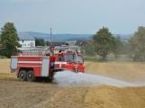 Současné sucho a polní práce přidělávají práci hasičům. Na Příbramsku během hodiny vyjeli dvakrát. (6)