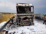 AKTUÁLNĚ: Požár kamionu zastavil provoz na D4 (8)