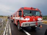 AKTUÁLNĚ: Požár kamionu zastavil provoz na D4 (7)