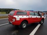 AKTUÁLNĚ: Požár kamionu zastavil provoz na D4 (2)