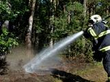 Požár okraje lesa mezi obcemi Nesvačily a Strýčkovy (3)