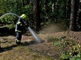 Požár okraje lesa mezi obcemi Nesvačily a Strýčkovy (13)