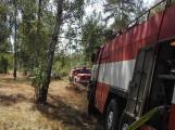 AKTUÁLNĚ: U vrcholu kopce Strážný, nedaleko Trhových Dušníků hoří les (30)