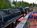 Nejednalo se o požár, ale Příbramí projel parní vlak (30)