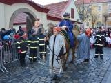 Do Příbrami opět dorazili Tři králové na velbloudech (27)