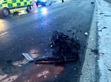 Aktuálně: Hromadná nehoda uzavřela dálnici D4! V místě přistává vrtulník (3)