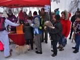 Zimní Brdy uvítaly účastníky pochodu pořádnou sněhovou nadílkou (42)