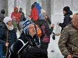 Zimní Brdy uvítaly účastníky pochodu pořádnou sněhovou nadílkou (85)