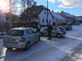 Aktuálně: V Rožmitále se srazily dva vozy (4)