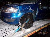 Sníh komplikuje dopravu, na dálnici D4 se srazily dva vozy (2)