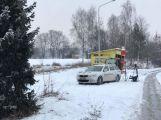Dálnice D4 ve směru na Prahu stojí, u Mníšku havarovalo nákladní auto (3)