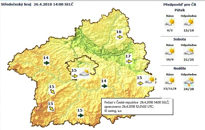 Předpověď počasí pro Středočeský kraj - …