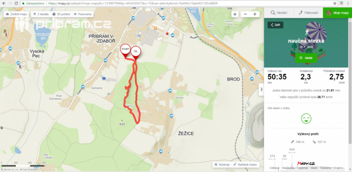 Kratší okruh stezky bude dlouhý 2,3 km a …