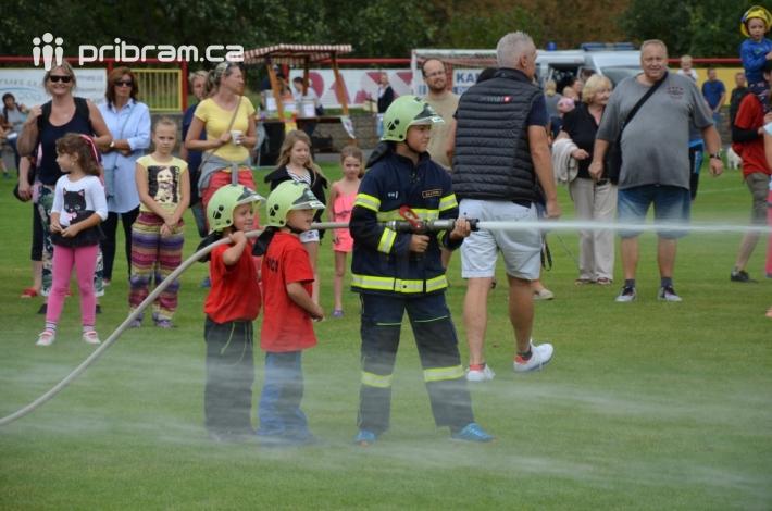 Svůj um předvedli i malí hasiči zSDH …