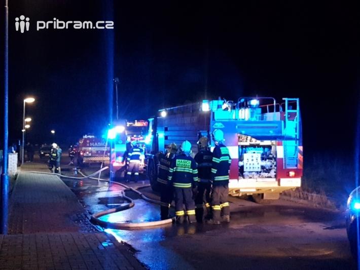 Pět jednotek hasičů momentálně likviduje požár …