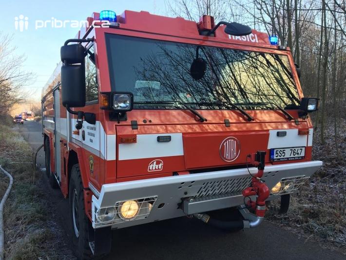Profesionální hasiči ze stanice Příbram a …