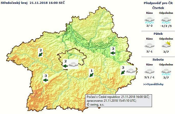 Podle informací meteorologů z ČHMÚ hrozí na …
