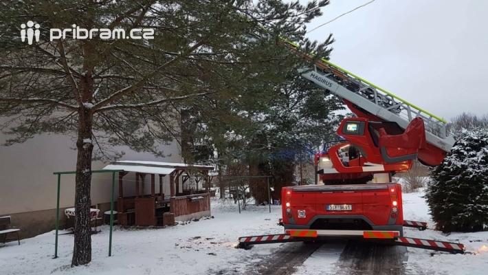 Profesionální hasiče z Příbrami, společně s …