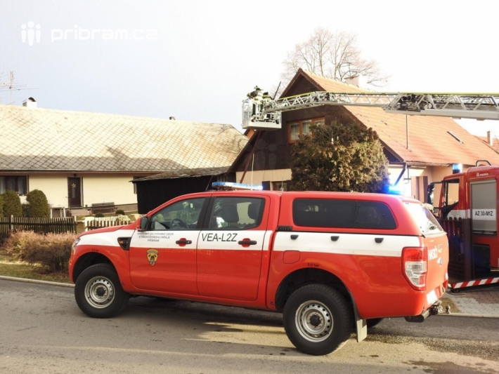 Zásah hasičů v Bohutíně.