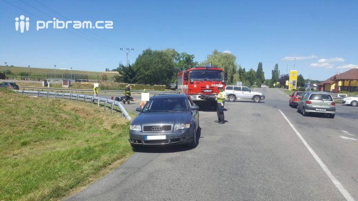 Na silnici 66 u obce Milín na Příbramsku došlo …