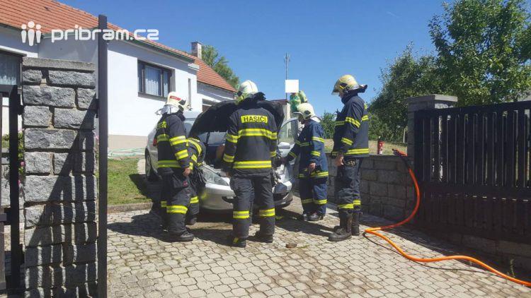 Právě teď: Hasiči likvidují požár osobního vozu