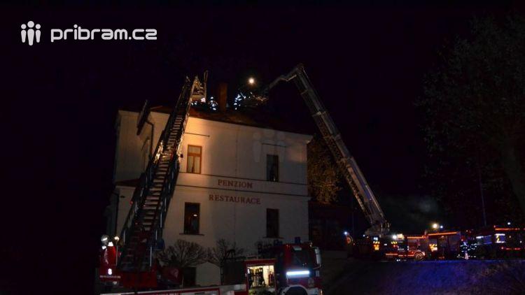Právě teď: Požár restaurace zaměstnává šest jednotek hasičů