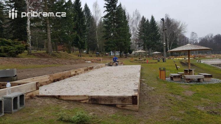Na Nováku probíhají práce na rekonstrukci oblasti zázemí