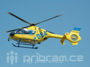 U srážky motorkářů u Obor zasahoval vrtulník