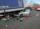 Aktuálně: Hromadná dopravní nehoda  se zraněním omezuje provoz na hlavním tahu silnice I/4 ve směru na Strakonice
