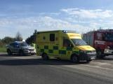 Aktuálně: Na dálnici D4 došlo ke střetu osobního vozu s motocyklem