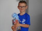 Třetí místo ve výtvarné soutěži obsadil Hugo z Mateřské školy Bratří Čapků