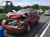 Právě teď: Po nehodě tří vozidel je momentálně uzavřena Strakonická silnice u obce Těchařovice.