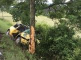 Další dopravní nehoda na Příbramsku si vyžádala zranění