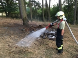 Pozorný oznamovatel nahlásil opuštěné ohniště u lesa, zabránil tak rozšíření ohně