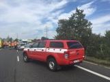 AKTUÁLNĚ: Dopravní nehoda zcela uzavřela Strakonickou. Z místa je hlášen větší počet zraněných