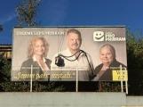Foto dne: Někteří občané vyjadřují své preference rovnou na billboardech příslušných stran