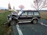 Aktuálně: Dodávka srazila zvěř, při objíždění nehody se střetla dvě další vozidla. Silnice je zcela uzavřena.